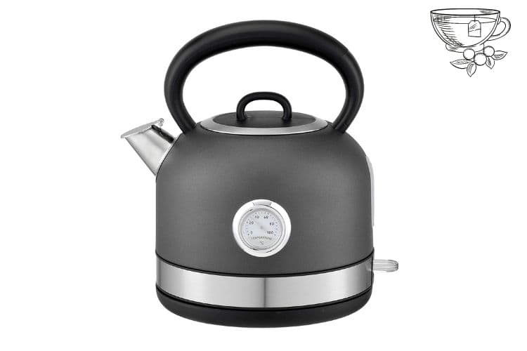 Hafele Dome Electric Stainless Steel Kettle with Spout cover