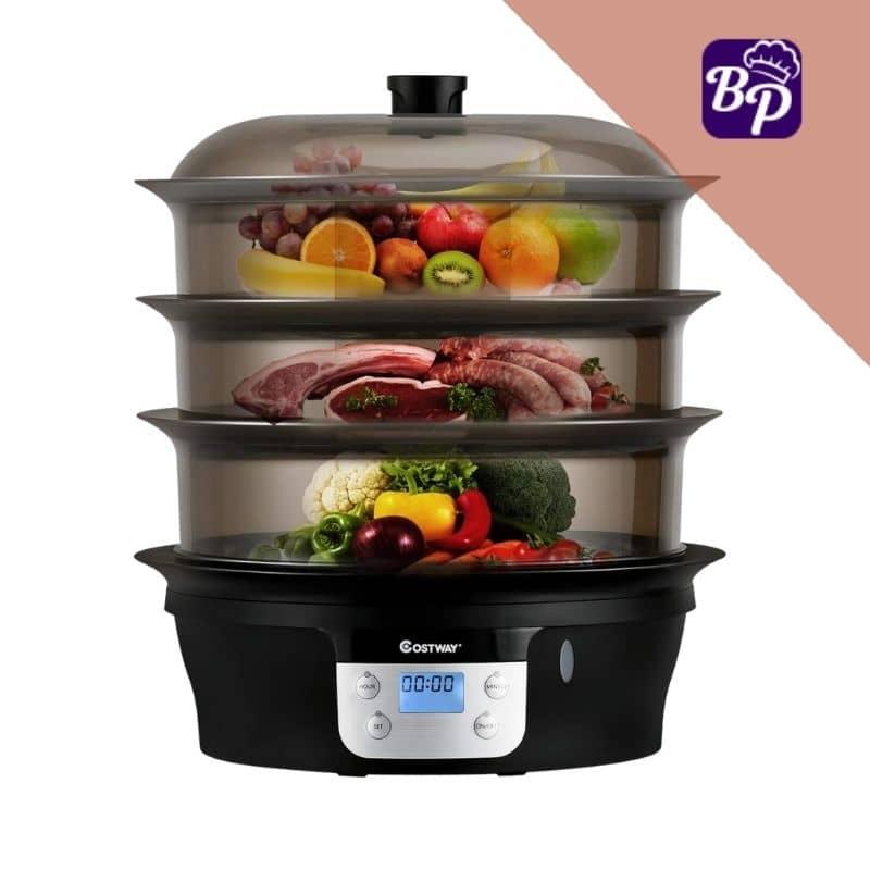 COSTWAY Best electric food steamer BPA free