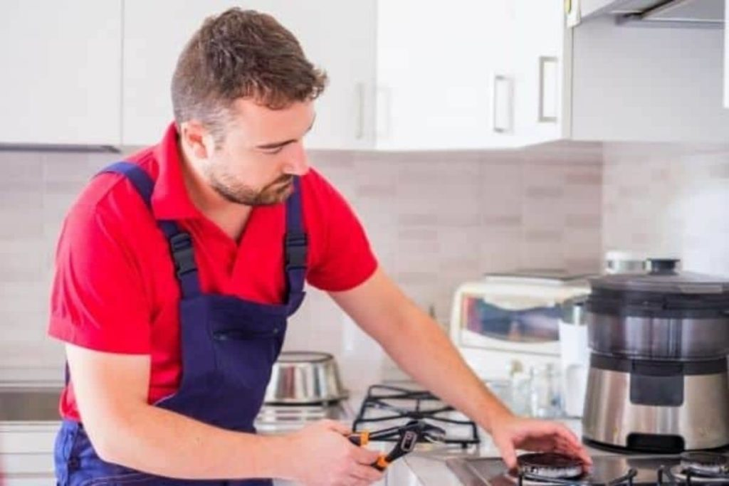 how to connect the electrical wiring to a cooktop
