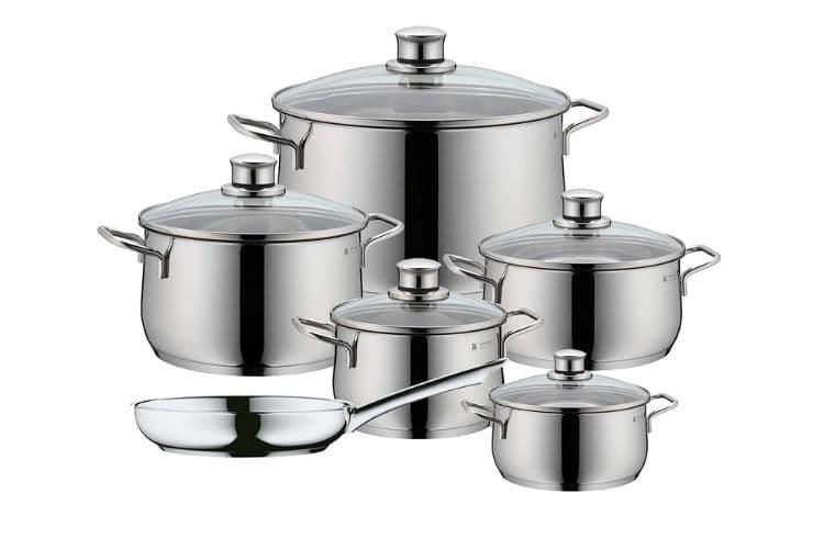 WMF Diadem Plus Cromargan pot set with pan