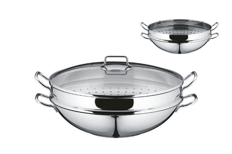 WMF Party wok set (cromargan WMF)