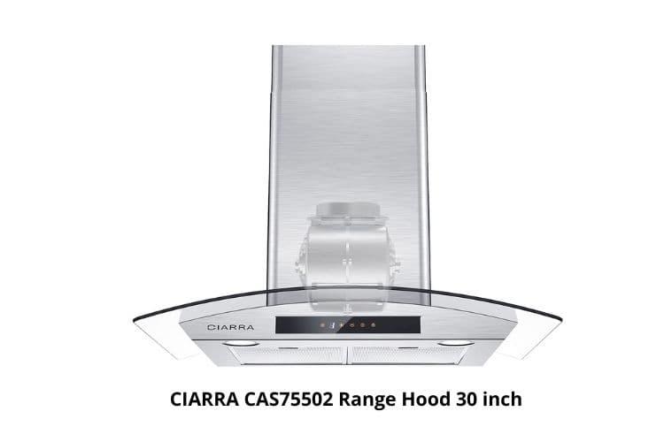 CIARRA CAS75502 stainless steel wall mounted range hood
