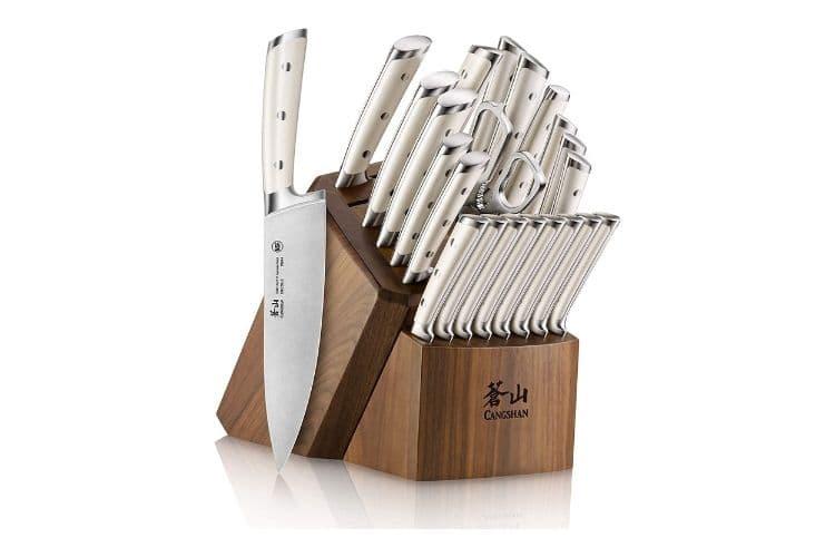 Cangshan German Steel forgedKnife block set