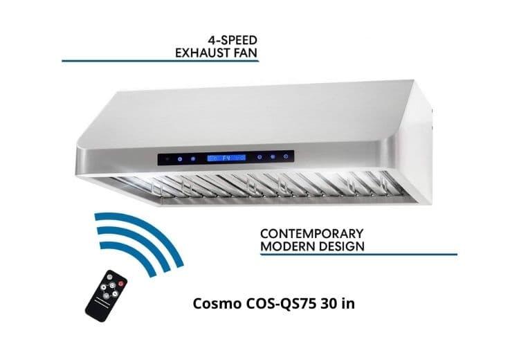 Cosmo COS-QS75 30 inch ductless range hood